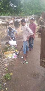 नगर परिषद द्वारा प्रमुख जगाओ पर सफाई अभियान