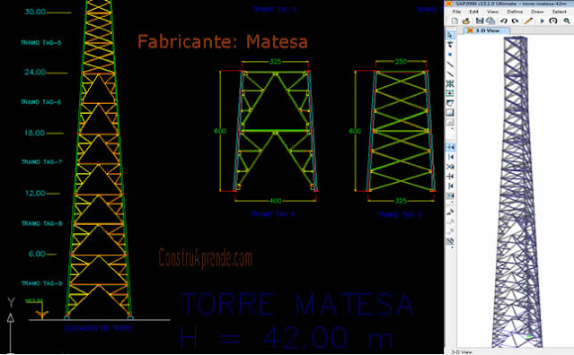 Telecommunication Tower Modelling in SAP2000