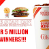 FREE FOOD EVERY DAY FROM BURGER KING!! Burger King Coca Cola Instant Win Giveaway - OVER 5 MILLION WINNERS WIN FREE FOOD AT BURGER KING!! Another 30,000 Win T-Shirts. Glass Bottles, Gift Cards, Bicycles, Televisions and More. Daily Entry, Ends 7/27/19.