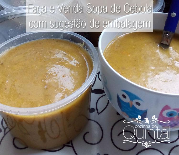 Faça e Venda Sopa de Cebola, receita perfeita para o inverno =)