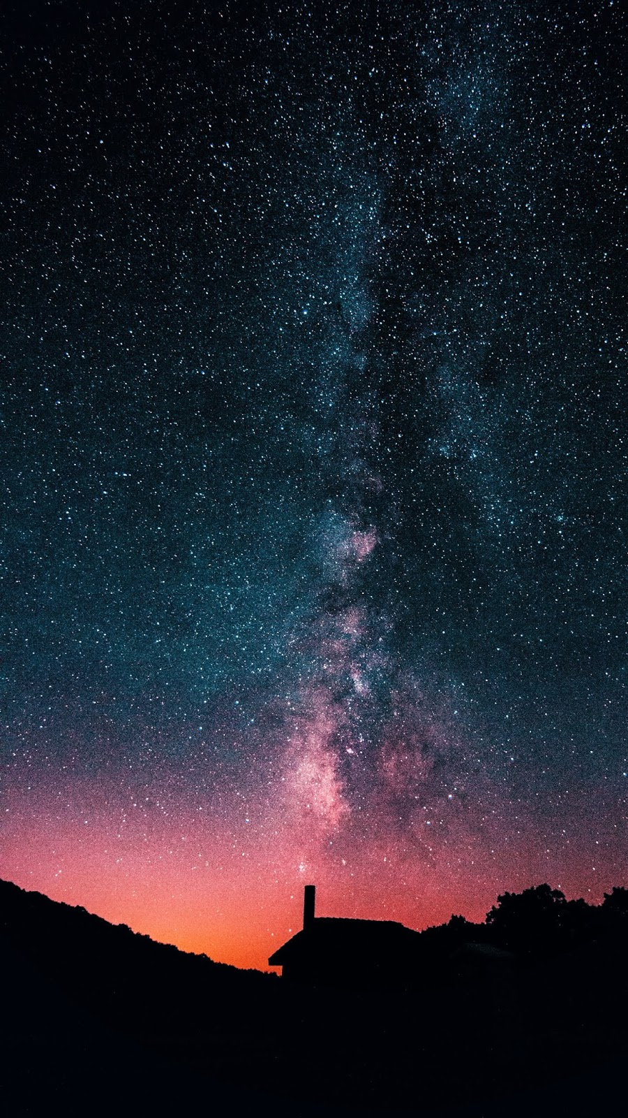Red milky way of the night