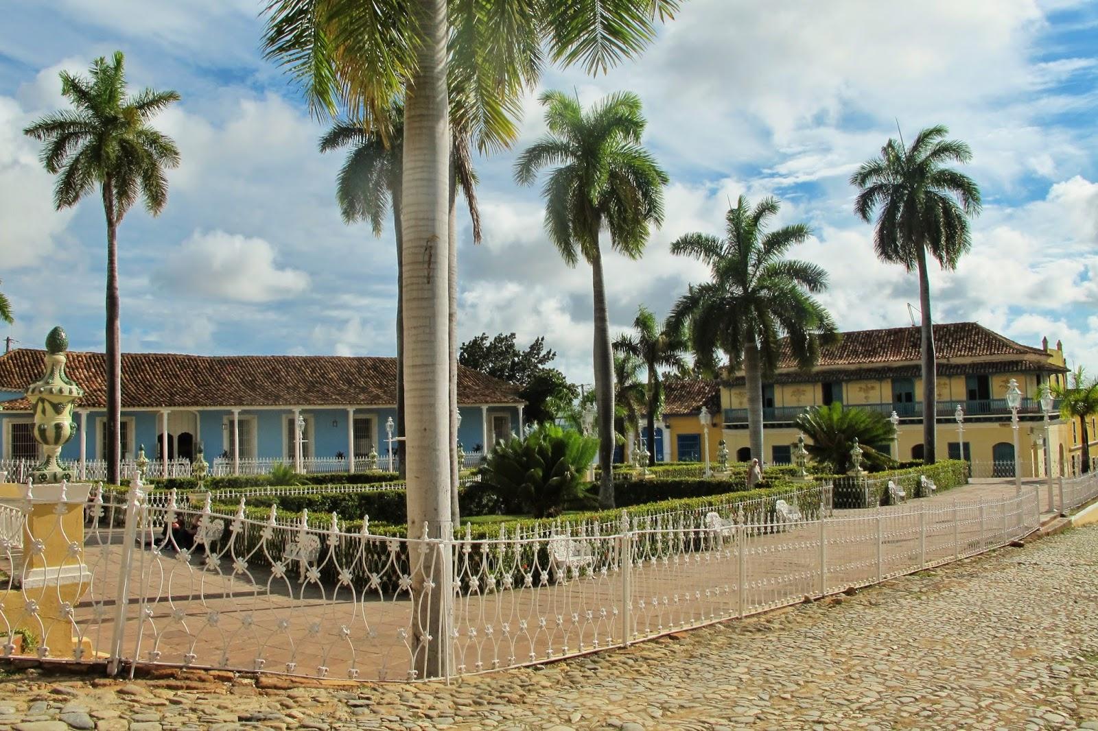 Plaza Mayor, no Centro histórico de Trinidad, em Cuba.