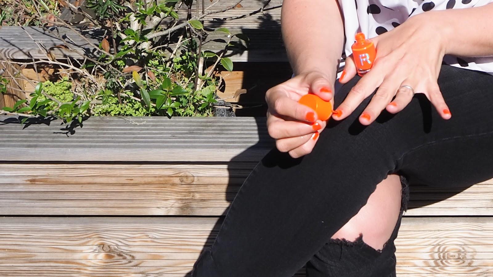 Revolution Beauty Neon Nail Polish in Boom Boom