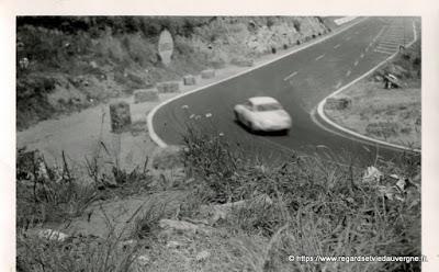 photo noir et blanc  du circuit de Charade, Auvergne