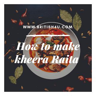 How to make kheera Raita