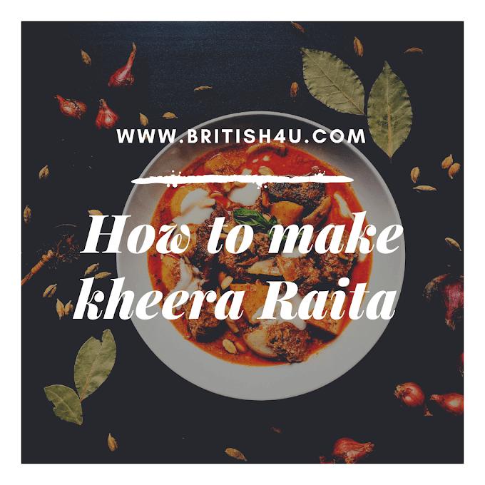 खीरा का  रैयता बनाने की विधि : How to make kheera Raita