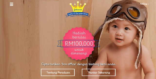 Peraduan JOHNSON'S BABY of the Year 2015