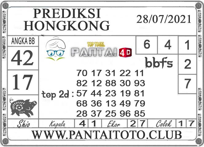 PREDIKSI TOGEL HONGKONG PANTAI4D 28 JULI 2021