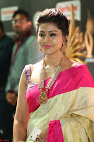Sneha Looks Super cute in Red Silk Saree at IIFA Utsavam Awards 006.JPG