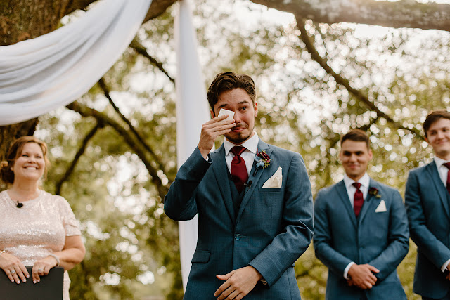 groom reaction to seeing bride in ceremony