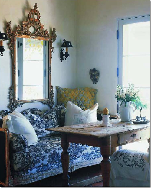 30 Incredible Eclectic Dining Designs: Paisley Curtain: Thinking Toile