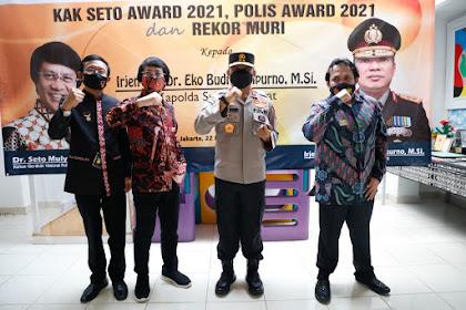 Kapolda Sulbar Raih Penghargaan Kak Seto Awars, POLIS Award dan Rekor MURI di Jakarta