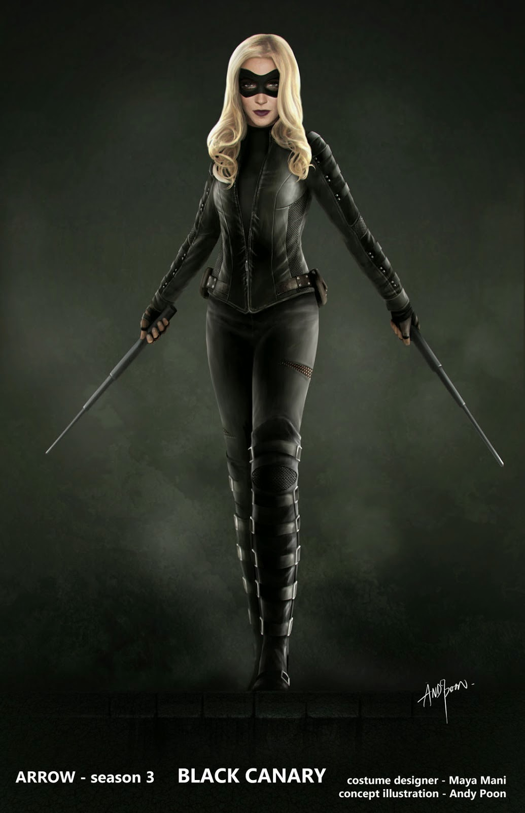 Kick It With Amazing ARROW Black Canary Concept Art by ...