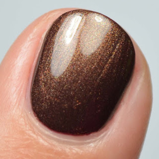 brown metallic nail polish