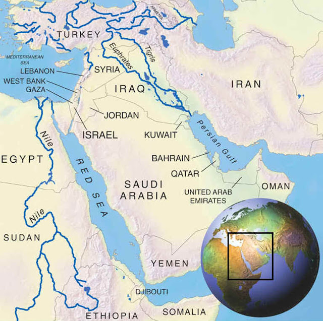 Image Attribute: The three major river basins of the Middle East