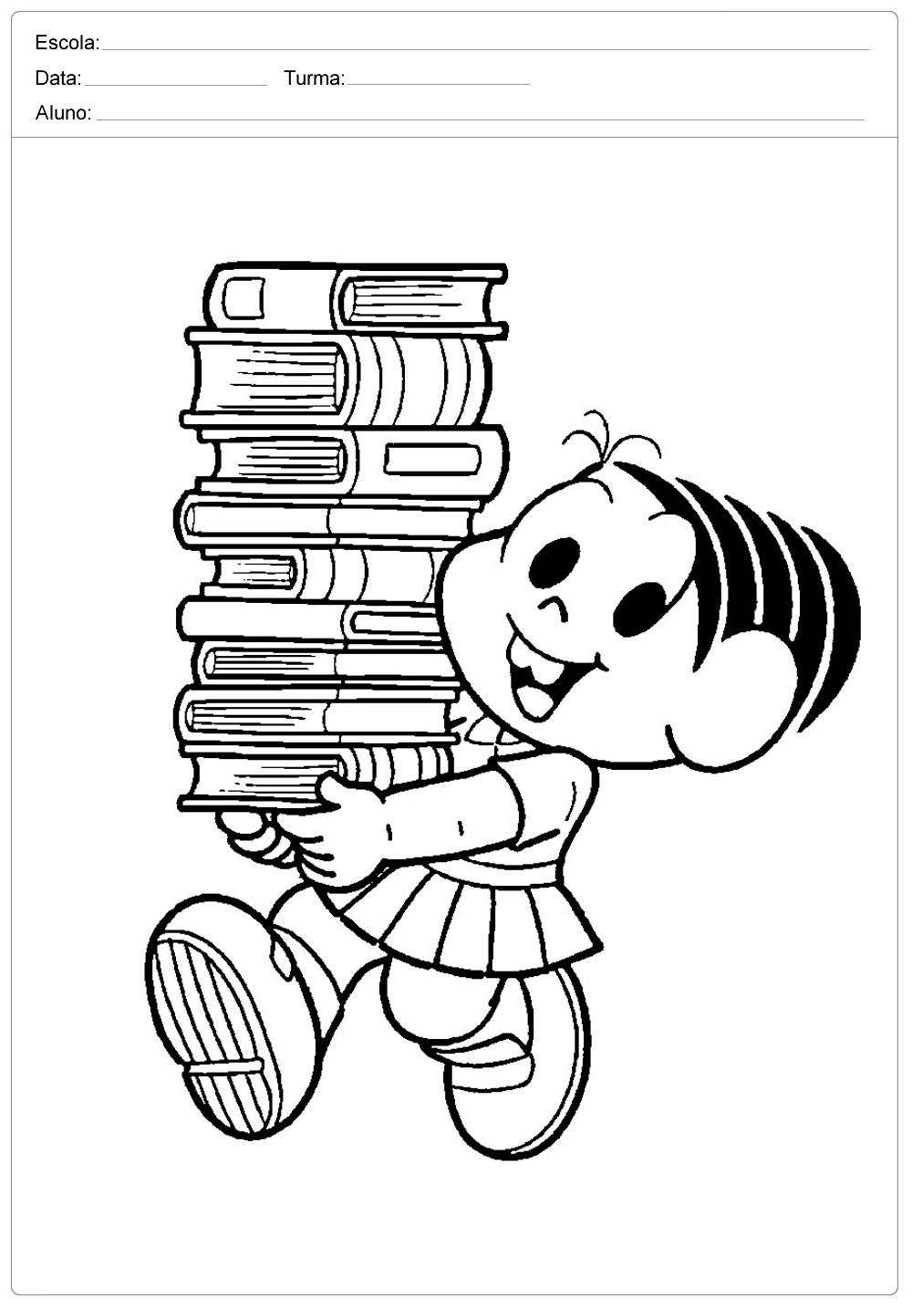 Dia Do Livro Desenhos Para Colorir So Escola
