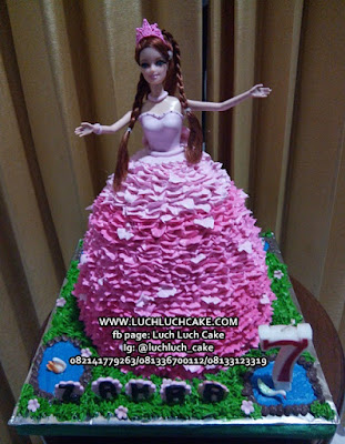 Kue tart Barbie Cake Pink Dress