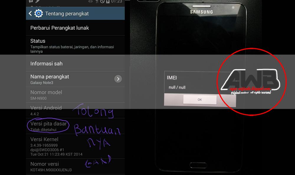 N900 samsung imei null