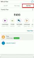 change airtel postpaid plan in airtel app