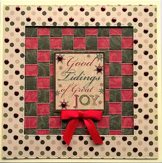 Card made from the Buzzcraft Festive Season range of foiled & die cut toppers with co-ordinating printed background card
