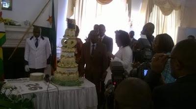 Mugabe Gets Huge Birthday Cake From Staff As He Clocks 92, Plans $1m Birthday Celebration (Photos)