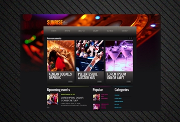 Sunrise Blogger Template with wordpress look, 3 columns, by sora template