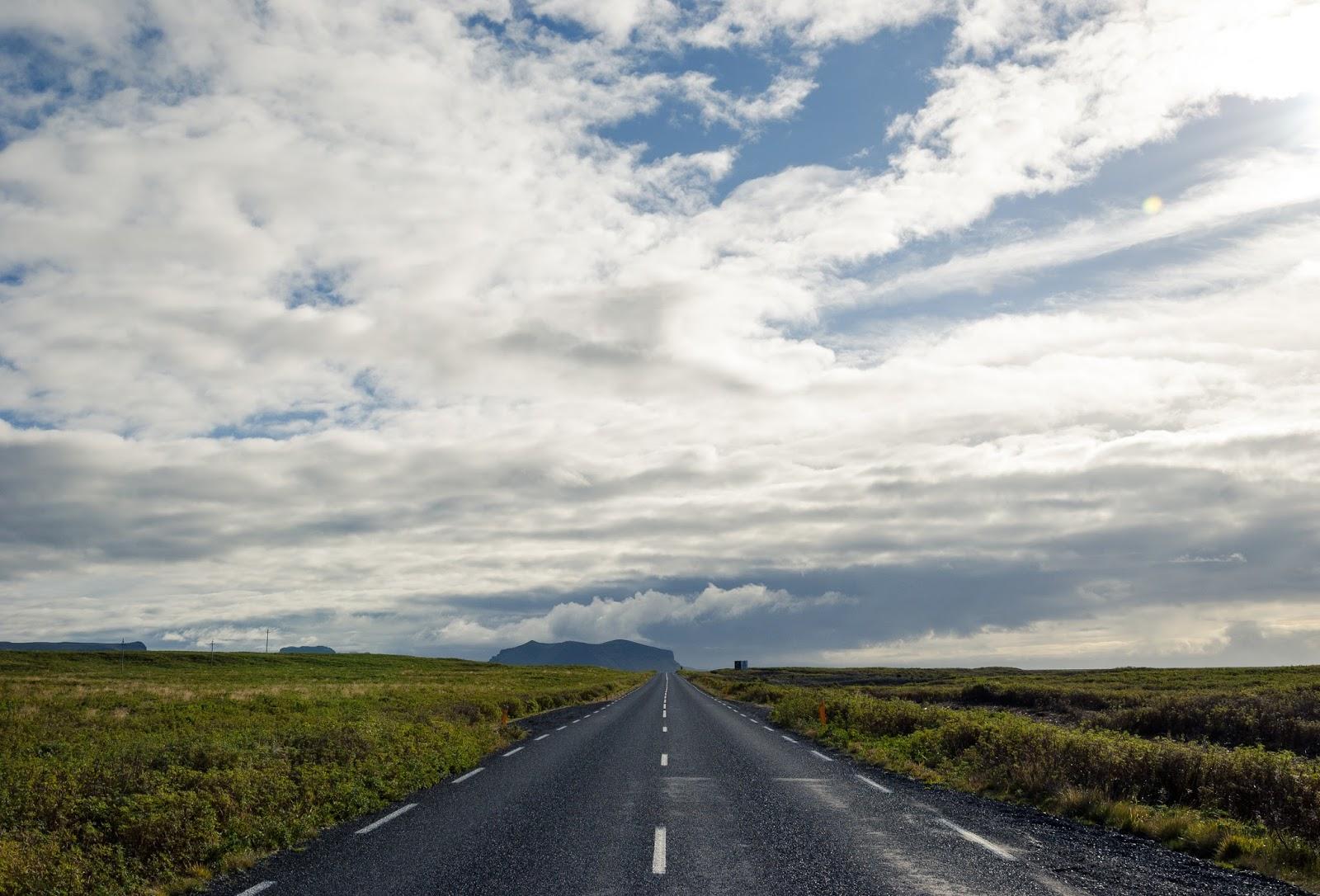 Islandia, droga, pustka, przestrzeń