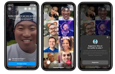 تطبيق فيسبوك مسنجر رومز Messenger Rooms لمكالمات مرئية جماعية خدمة الاتصال المرئي الجماعي فيسبوك Messenger Rooms