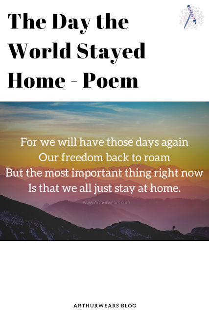 the day the world stayed at home poem pin