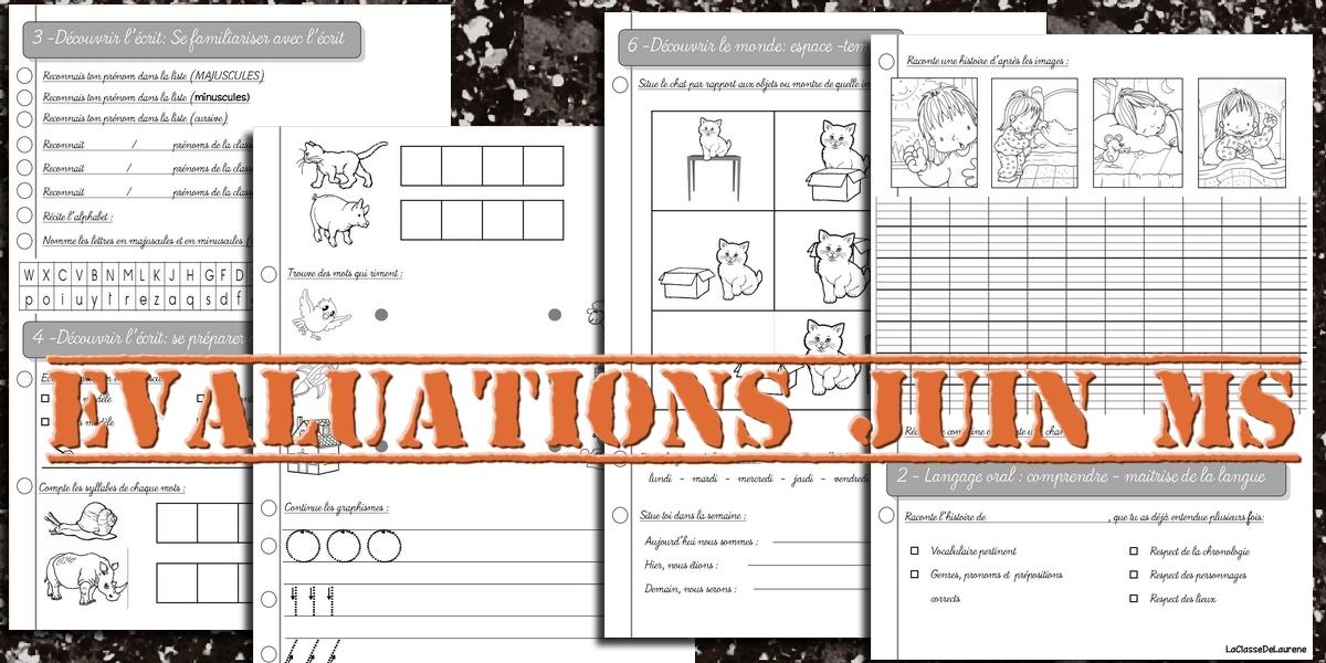 Beautiful La maternelle de Laurène: Evaluations de juin Moyenne section WY07