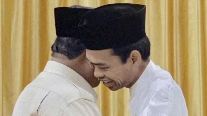 Pendukung 01 Sebut UAS ke Prabowo Adalah Tanda Kekalahan