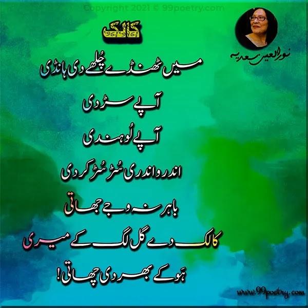 Noorul Ain Sadia Punjabi Poem Ghazal - Kaalak