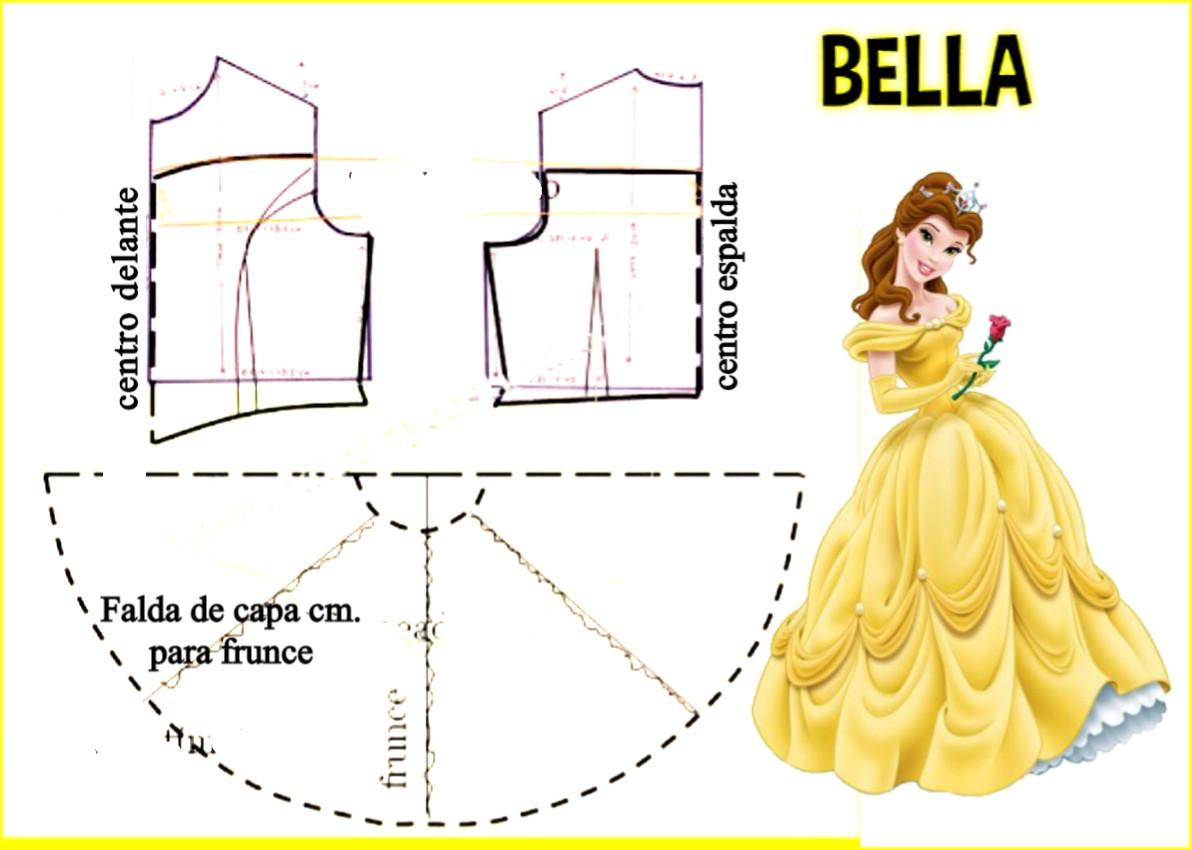 27c09a3ae Gratis patrones Disfraz de Bella para coser en casa - Todo Halloween ...