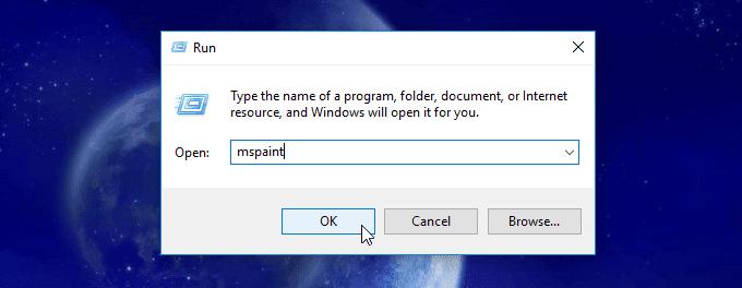 cách mở paint trên máy tính windows
