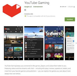 You tube gaming app