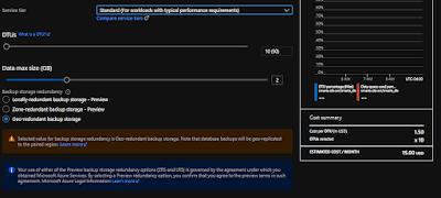 Azure SQL DB Standard tier