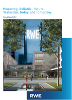 Front page of RWE annual 2017 report