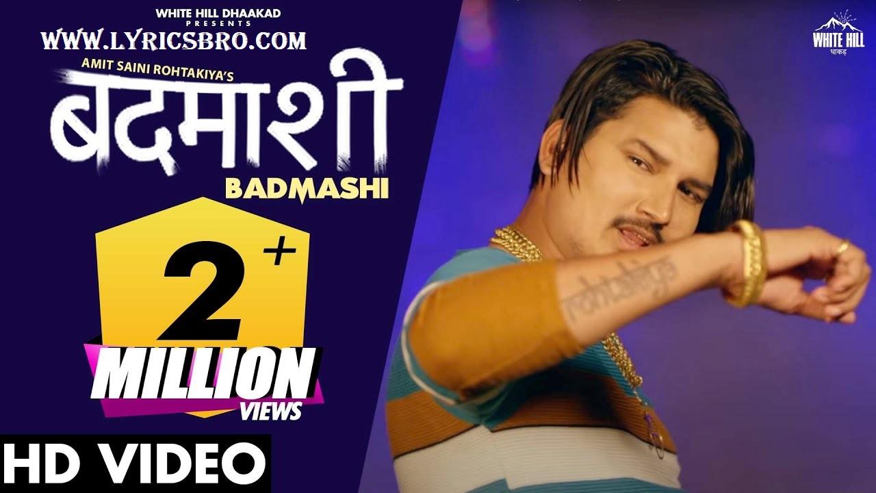 badmashi-song-hindi-lyrics-amit-saini-rohtakiya