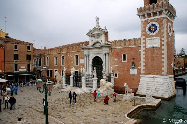 Il portale rinascimentale di accesso all'Arsenale di Venezia