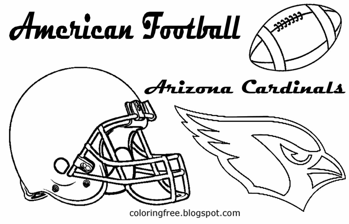 Arizona Cardinals Logo Coloring Pages Sketch Coloring Page