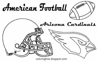 Arizona Cardinals printable American football free coloring pages for boys USA sport games NFC logo