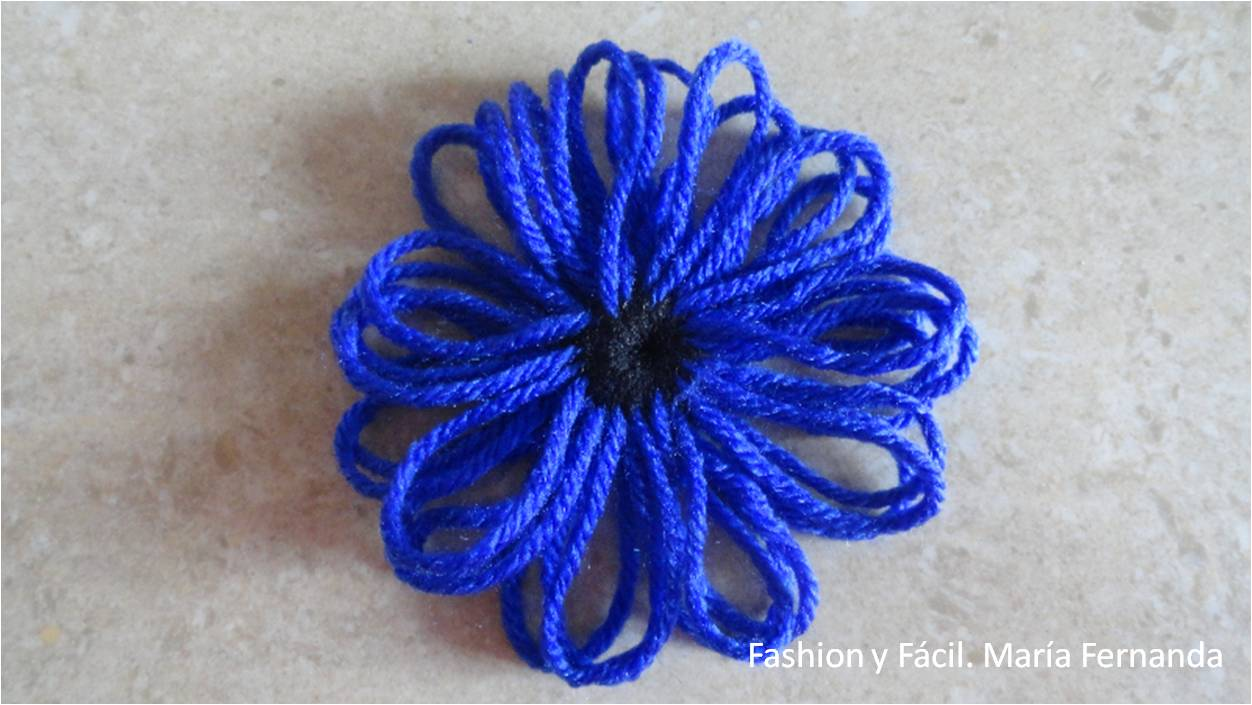 Fashion Y Facil Diy Tutorial De Como Hacer Un Chaleco Con Flores De - Como-hacer-una-flor-de-lana