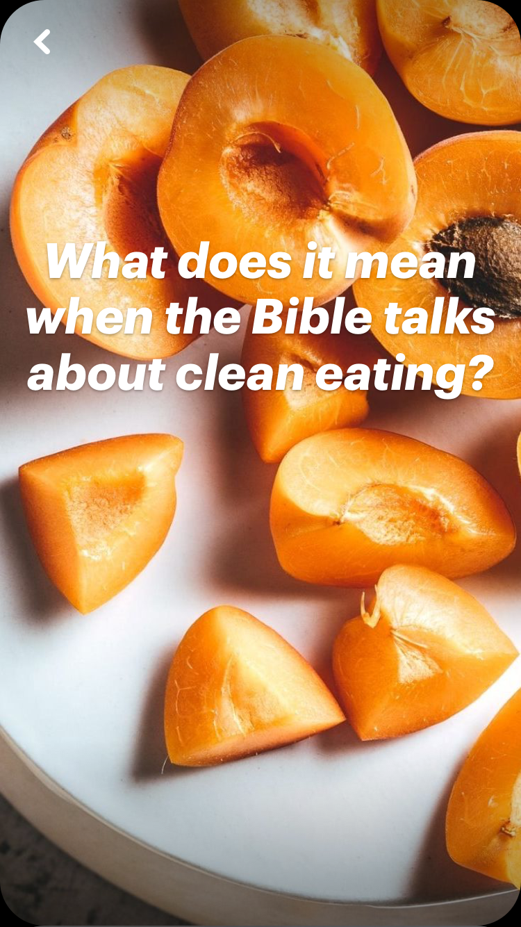 What does it mean when the Bible talks about clean eating? | Land of Honey