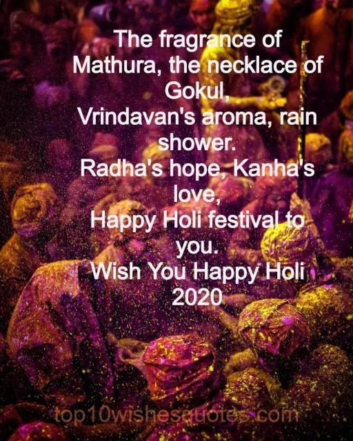 2020 Holy wishes in english