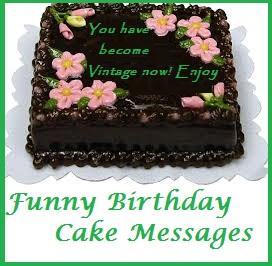 Funny Happy Birthday Cake Wordings