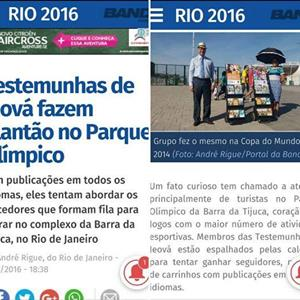 Jehovah's Witnesses at Rio Olympics