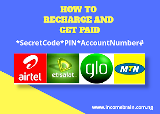 Code to Recharge and get Paid - VTU App