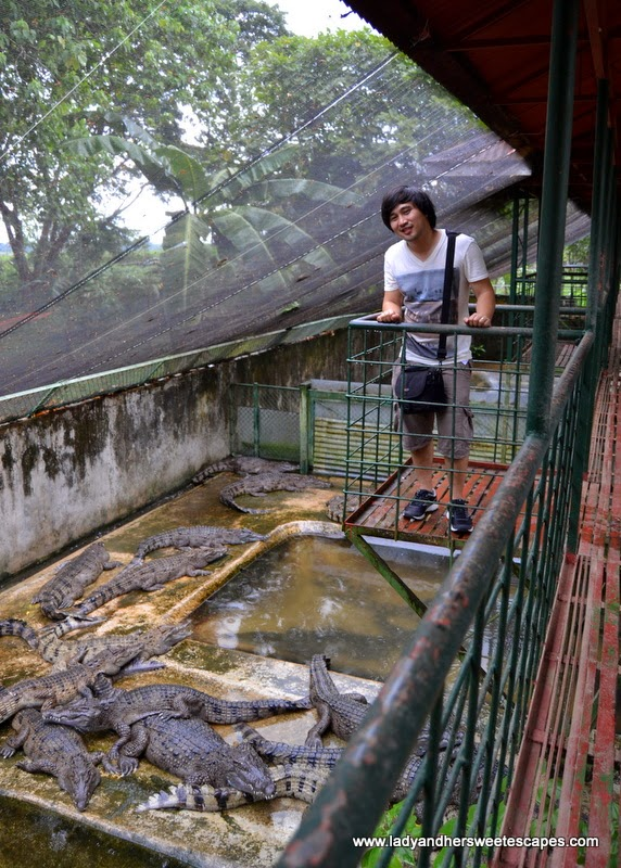 Ed at the Crocodile Farm in Palawan