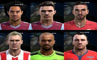 Faces: Shawcross, Rudy Gestede, Jaume Domenech, Darren Randolph, Clark Ciaran, Roderic Filippi, Pes 2013