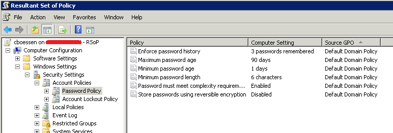 Domain Password Policy Not Applying